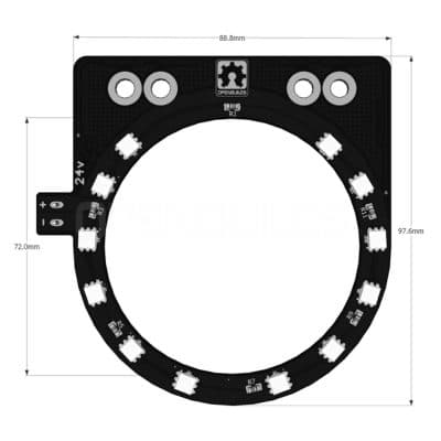 Spindle LED Ring Technical Drawing