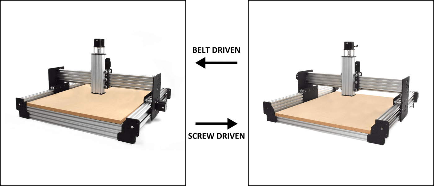 WorkBee CNC Drive System Comparison