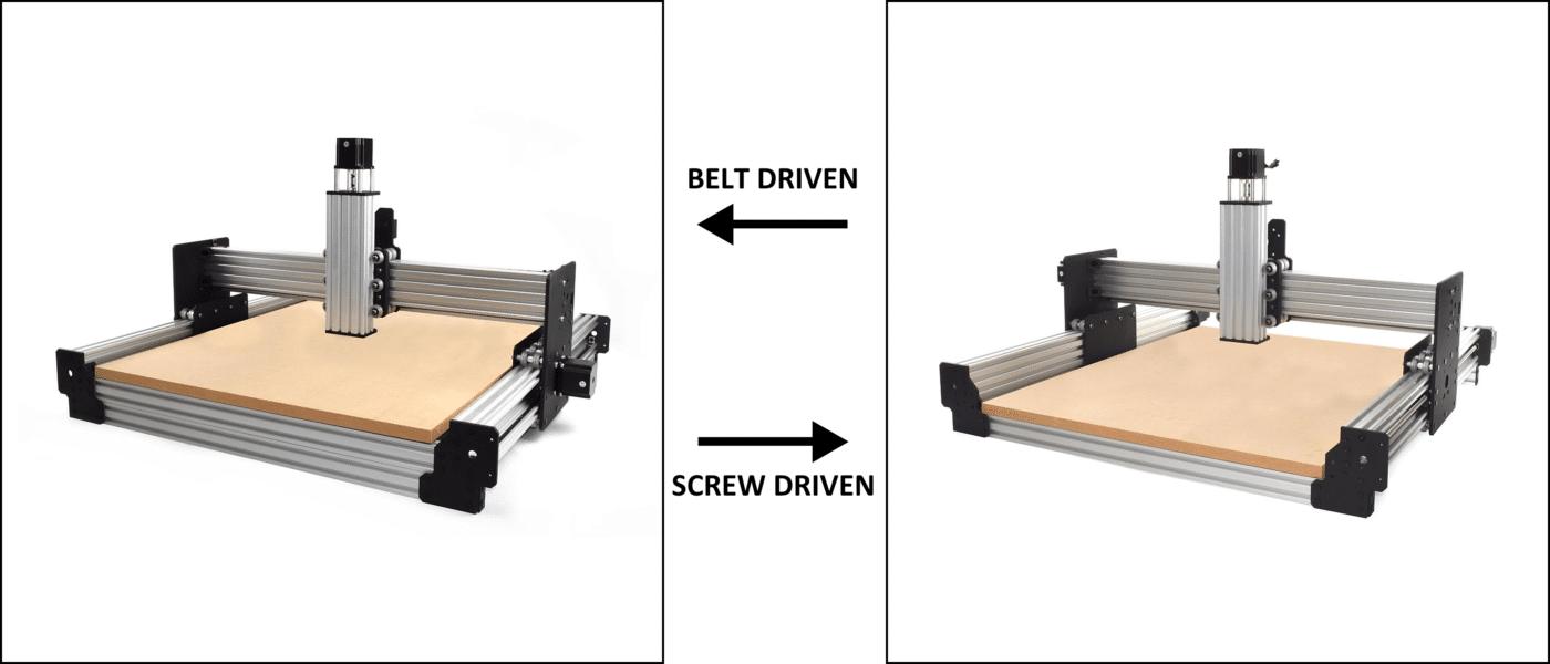 WorkBee CNC Drive System Comparison