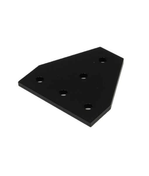 5 Hole Joining Plate Black