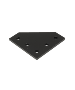 90 Degree Joining Plate Black
