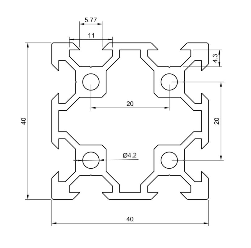V-Slot 40x40 Description Drawing