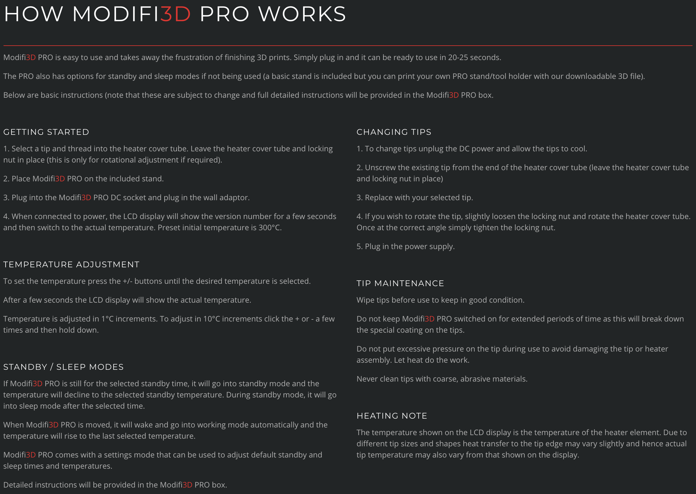 MODIFI3D Guide