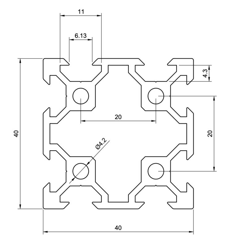 40x40 V-Slot Extrusion
