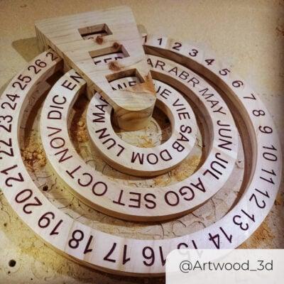 WorkBee Calendar @artwood_3d