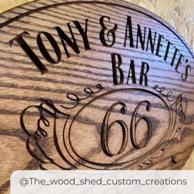 WorkBee Sign the_wood_shed_custom_creations